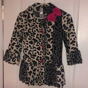 Girls Dressy Fleece Coat - 6x
